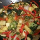 Stir-Fried Sweet and Sour Vegetables - The sauce in this recipe is good for whatever combination of vegetables you like to make a sweet-and-sour stir-fry dish.