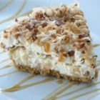 Freezer Caramel Drizzle Pie - This is a delicious pie that people just love on a hot summer day. Great for Sunday dessert if prepared Saturday night.