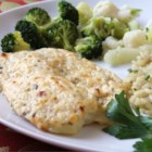 Broiled Tilapia Parmesan - Flavorful recipe for this farm raised fish that is easy and done in minutes! The fish is broiled with a creamy cheese coating for an impressive flavor and texture.