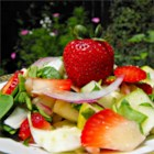 Spring Strawberry Spinach Salad - This fresh strawberry and spinach salad is tossed with a sweet poppy seed dressing.