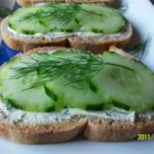 Cucumber Sandwiches III - Great appetizer. Every time I have served these everyone wants the recipe...and they're so easy! Just be sure to refrigerate the cream cheese mixture overnight!
