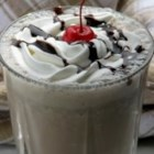 Freeze-Easy Chocolate Shake - Just milk, chocolate ice cream and chocolate syrup blended together prove that three is indeed a magic number!