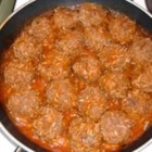 "Melinda's Porcupine Meatballs  - These easy meatballs are simmered in a simple tomato sauce. Your kids will love the little ""spikes"" made of rice."