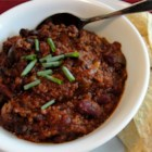 Emily's Famous Chili - Plenty of ground beef and kidney beans are seasoned with jalapenos, chipotle chiles in adobo sauce, cumin and chili powder in this quick, meaty chili with a kick.