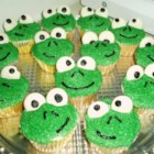 "Frog Cupcakes - ""These frog-faced cupcakes are fun and easy to make for a child's birthday."""