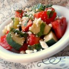 Tomato, Basil, and Feta Salad - Summer on the Mediterranean - or in your own back yard - this fresh, flavorful salad is a wonderful addition to the meal wherever you are!