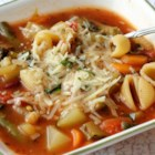 Jamie's Minestrone - I created this soup after becoming tired of the excess salt and lack of veggies in canned minestrone.  I recalled a great bowl of minestrone that was overflowing with rich vegetables at the 'Sheepherder's Inn' in Sacramento, California.  Great with a hearty bread, romaine salad and a nice Merlot!