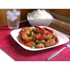 Hunan Kung Pao - Chicken and shrimp are cooked with chile peppers and bell peppers in this copycat recipe.