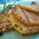Grilled Pineapple - These are SO easy and really good. The hot sauce gives it an extra kick and cuts the sweetness. They can help with patience while the rest of the grilled feast comes together, but be warned, they go quickly!