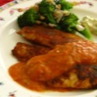 Pan-Fried Tilapia with Tomatillo Red Pepper Sauce