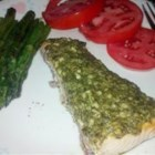 Stephan's Broiled Salmon Pesto