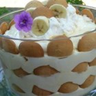 Banana Pudding V - A no-cook banana pudding made with lowfat cream cheese, lite sour cream, lite whipped topping, sugar free pudding mix and skim milk.