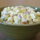 New Red Potato Salad - This simple chilled potato salad makes great use of unpeeled red potatoes, hard cooked eggs, celery and a mayonnaise mixture. It's perfect for the big cookout!