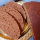 European Black Bread - This is an easy recipe for a loaf of black bread with caraway seed for bread machines.