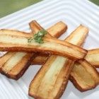 Butter Fried Parsnips - Parsnips lightly seasoned and pan fried in butter.