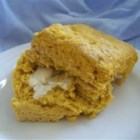 Pumpkin Scones - Only two tablespoons of butter are used in these spiced low-fat scones which use pumpkin puree and eggs to moisten and bind the dough.