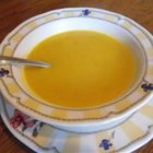 Creamy Carrot Soup - Spicy creamy soup. Dill and ginger complement the pureed carrot.