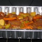 Roasted Potatoes and Apples - This delicious, slightly sweet dish is a hearty accompaniment to a fall meal.