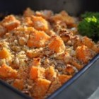 Butternut Squash Bake - This savory side dish or vegetarian main dish is made with butternut squash and accented with fresh thyme and blue cheese.