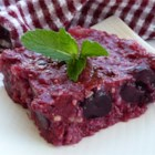 Bing Cherry Congealed Salad - Canned fruit and chopped nuts are  folded into a creamy gelatin base in this cold salad.