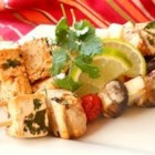 Cilantro Lime Grilled Tofu - Tofu is marinated in a flavorful lime, garlic, cilantro, and chili powder marinade, then grilled. Serve with grilled vegetables or in a tortilla.