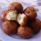 Buttermilk Corn Fritters - The use of a buttermilk biscuit mix and canned corn reduces the preparation time in these fritters.  They are at their best when served straight out of the pan with warm maple syrup.