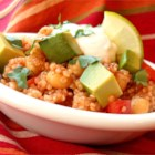 Tex-Mex Quinoa Salad - This versatile salad can be served warm in a tortilla, or as a filling for tacos and burritos.