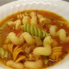 Pasta Fagioli - A traditional Italian soup. Serve with a crisp salad and a hot loaf of garlic bread and you have a meal! Serve with grated Parmesan cheese on top.