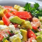 Avocado Feta Salsa - A chunky, savory summer salsa that tastes great with pita or tortilla chips.