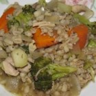 Barley Primavera - Vary the vegetables in this health-conscious entree according to their seasonal availability.