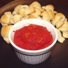 Way Easy Pizza Sauce/Bread Stick Dip - A simple tomato sauce for creating instant pizza snacks! Just spread over warm French bread or use as a dip for bread sticks. Melt some cheese on top to complete the pizza experience.