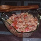 Jambalaya Salad - This is a New Orleans style salad with shrimp, ham, bacon, rice, and Creole seasonings.