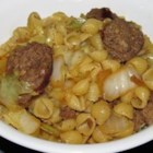 Cabbage and Smoked Sausage Pasta - Try this simple and quick pasta dish for a tasty, low-effort dinner.