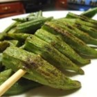 Grilled Okra - Crispy grilled okra gets its spicy flavor from Cajun seasoning.