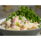 Ranch Potato Salad - This is a low-fat potato salad that gets high marks. Lots of taste and crunch, the potatoes are joined by celery, peas and scallions. Makes six servings.