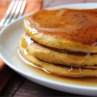 Pumpkin Pancakes - Ginger, cinnamon and allspice give this pumpkin pancake recipe just a hint of sweetness, making it the perfect fall breakfast.