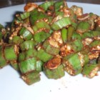 Okra Fry - We love recipes that stretch our culinary horizons. We now know what asafetida powder is, and so will you if you give this okra fry a whirl. It 's hot, spicy and oh so good.