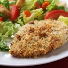 Amazing Chicken - An easy recipe for chicken that's crispy on the outside, moist and juicy inside. Chicken breasts are coated in mayonnaise and seasoned bread crumbs and baked.