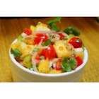 Apricot Salsa - The sweetness of fresh apricots and pineapple meets the heat of a minced habanero pepper to make a bright, colorful summer salsa.