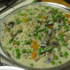 Mushrooms and Peas Rice