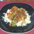 Caribbean Jerk Stir-Fry - This combination of Asian stir-fry and fiery Caribbean seasoning makes sweet and spicy dish.