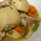 Easy Chicken and Dumplings - Chicken and veggies are simmered in broth with buttermilk-based dumplings.