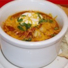 Taco Soup II - This is a really good and easy recipe. Top with shredded cheese, and serve with chips.
