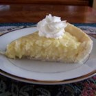 Coconut Cream Pie IX - Flaked coconut is folded into a custard made with egg yolks thickened with flour.