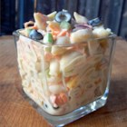 Mom's Best Macaroni Salad - This is, by far, the best macaroni salad I've ever put into my mouth. It has a perfect blend of sweetness and tartness, and it is so pretty with all of the multi-colored veggies. Be ready for this to disappear before you put it on the table! I have six children, and it is all I can do to keep them from nibbling on it while I'm mixing it up!