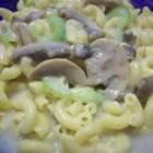 Mushrooms a la Gill - It's a simple but delightful cream of mushroom sauce served over pasta. This can be used as a side dish or main dish. I came up with it while pregnant and it satisfied my cravings.
