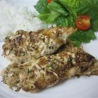 Tender Onion Baked Chicken - Chicken gets a flavor bang when baked with dried onion soup mix.