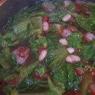 Escarole Soup - This soup features sausage and escarole in a rich tomato-flavored broth.