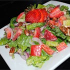 Strawberry Salad I - This is one of our favorite salad recipes. The combination of Romaine lettuce, toasted pecans, and fresh strawberries is unusual, but so good!