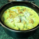 Brown Jug Soup - This is a cheesy vegetable soup made with processed American cheese and condensed cream of chicken soup.